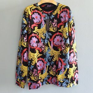 Gianni Versace Multicolor Flowers Pattern Sweat